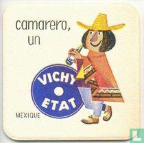 """Mexique camarero, un Vichy Etat / Dit is een van de 30 bierviltjes """"Collectie Expo 1958""""."""
