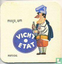 """Portugal moço, um Vichy Etat / Dit is een van de 30 bierviltjes """"Collectie Expo 1958""""."""