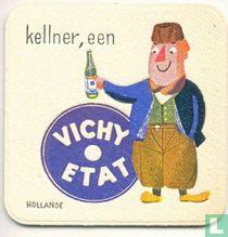 """Hollande kellner, een Vichy Etat / Dit is een van de 30 bierviltjes """"Collectie Expo 1958""""."""