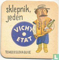 """Tchecoslovaquie sklepnik, jeden Vichy Etat / Dit is een van de 30 bierviltjes """"Collectie Expo 1958""""."""