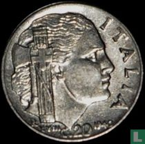 Italien 20 Centesimi 1940 (magnetisch - glatt)