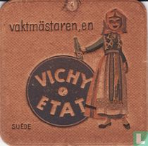 """Suède vaktmästaren, en Vichy Etat / Dit is een van de 30 bierviltjes """"Collectie Expo 1958""""."""