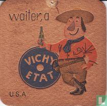 """U.S.A waiter, a Vichy Etat / Dit is een van de 30 bierviltjes """"Collectie Expo 1958""""."""