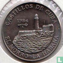 """Cuba 1 peso 1984 """"El Morro - La Habana"""""""