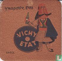 """Grèce Vichy Etat / Dit is een van de 30 bierviltjes """"Collectie Expo 1958""""."""