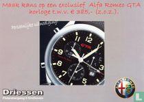 "Driessen ""Maak kans op een exclusief Alfa Romeo GTA horloge t.w.v. € 385,- (z.o.z.)."""