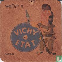 """Canada waiter, a Vichy Etat / Dit is een van de 30 bierviltjes """"Collectie Expo 1958""""."""
