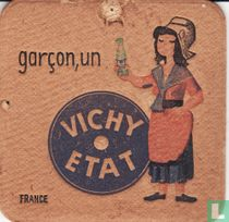 """France garçon, un Vichy Etat / Dit is een van de 30 bierviltjes """"Collectie Expo 1958""""."""