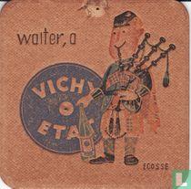 """Ecosse waiter, a Vichy Etat / Dit is een van de 30 bierviltjes """"Collectie Expo 1958""""."""
