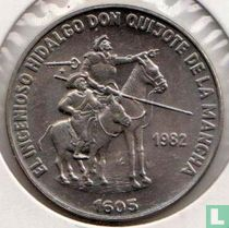 "Cuba 1 peso 1982 ""Hidalgo Don Quijote and Sancho Panza"""