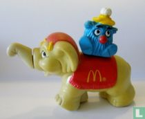 Fry Kid on elephant