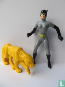 Catwoman and yellow Leopard