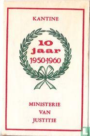 Kantine 10 jaar Ministerie van Justitie
