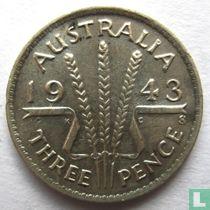 Australië 3 pence 1943 (S)
