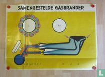 Opengewerkte technische illustratie van Samengestelde Gasbrander