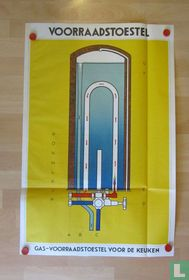 Opengewerkte technische illustratie van Gastoestel