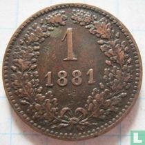Austria 1 kreuzer 1881