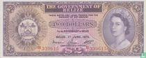 Belize 2 dollar 1975