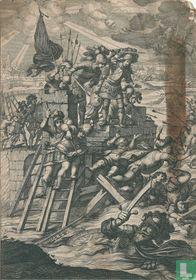 Jeanne d'Arc ziet Glassdale en de Engelsen verdrinken