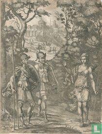 Aeneas ontmoet zijn moeder in het woud
