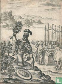 De Trojaanse vrouwen offeren aan Pallas Athene