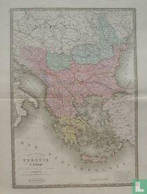 Carte Générale de la Turquie d'Europe, de la Grèce et des Iles Toniennes.