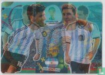 Lionel Messi en Sergio Agüero