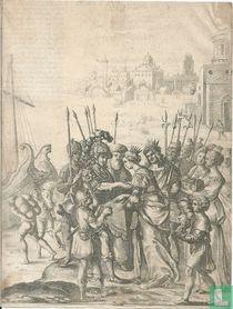 Aeneas komt aan in Carthago en ontmoet Dido