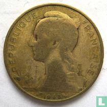 Français des Afars et des Issaland 20 francs 1968