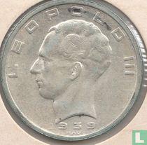 België 50 francs 1939 (NLD/FRA - positie B - met kruis op kroon)