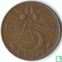Nederland 5 cent 1952 (met gehele E)