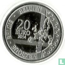 """Belgium 20 euro 2014 (PROOF) """"25th anniversary of the fall of the Berlin wall"""""""