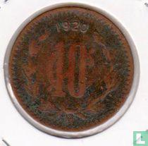 Mexico 10 centavos 1920