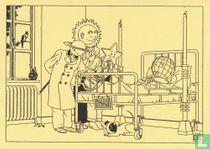 Aardbol in ziekenhuisbed