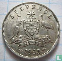 Australië 6 pence 1935