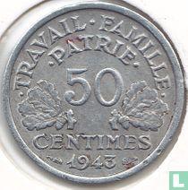 Frankreich 50 Centime 1943 (Schwer Typ)