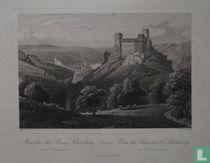 Ansicht der Burg Schönberg mit Oberwesel (Rhein) Vues du Chateau de Schönberg et d'Oberwesel