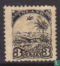Landschap met palmboom