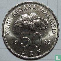 Maleisië 50 sen 1989