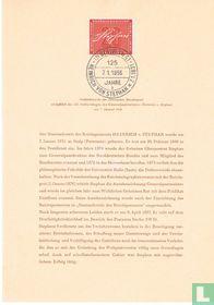 125ste verjaardag van Heinrich v. Stephan
