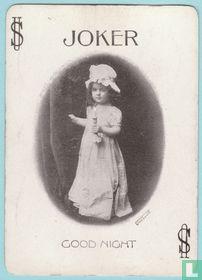 Joker USA 9, Souvenir, Good Night, Speelkaarten, Playing Cards, 1899