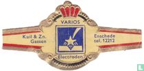 Varios Electroden - Kuil & Zn. Gassen  - Enschede tel. 12212