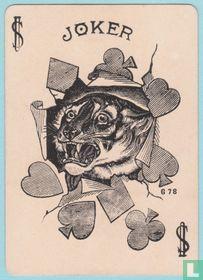 Joker USA, US1b, Tigers #101, Speelkaarten, Playing Cards 1894