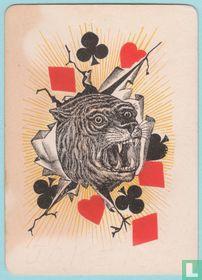 Joker USA, US1a, Tigers #101, Speelkaarten, Playing Cards 1891