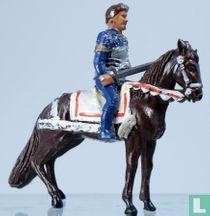 Sir Lancelot on horsback