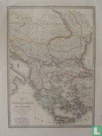 Carte De La Turquie D'Europe Et De La Grèce Moderne