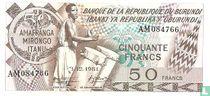 Burundi 50 Francs 1981