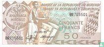 Burundi 50 Francs 1993