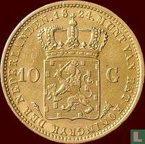 Netherlands 10 gulden 1824 (U)