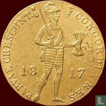 Netherlands ducat 1817